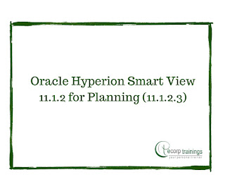 Oracle Hyperion Smart View 11.1.2 for Planning (11.1.2.3) training
