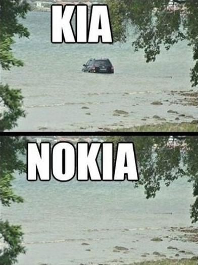 Funny Celebrity Pun Pictures - Kia Nokia