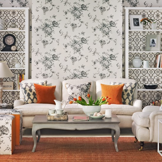 Mix And Chic: Sprucing Up Your Living Room Using Wallpapers