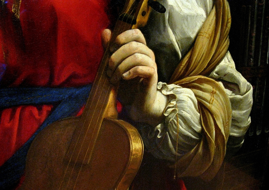 Guido Reni Saint Cecilia  detail