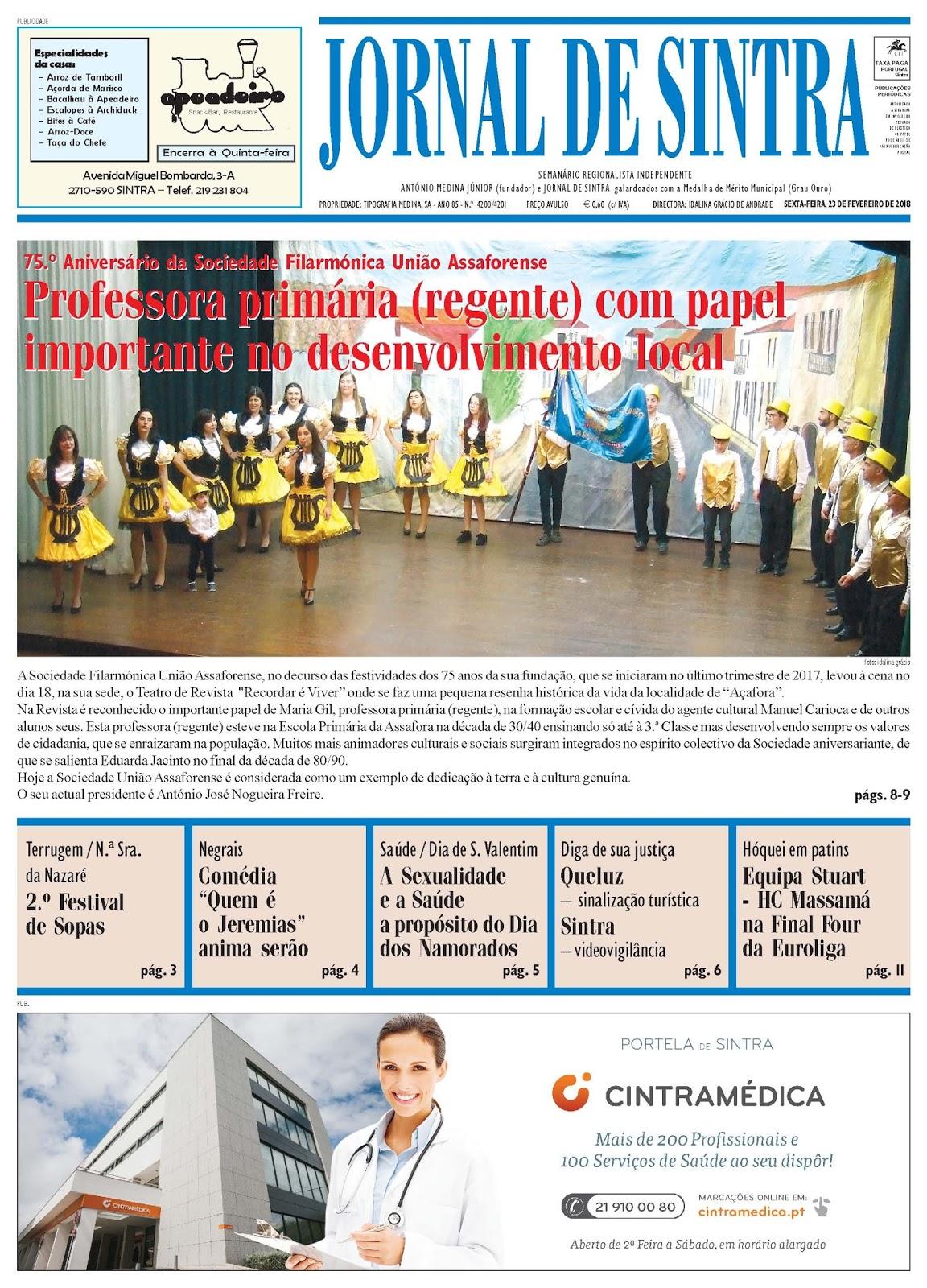 Capa da edição de 23-02-2018