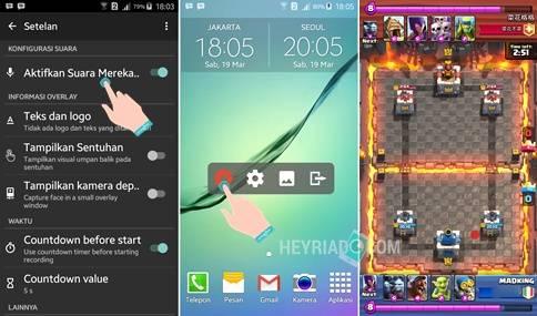 Cara Merekam Clash Royale Menjadi Video di Android