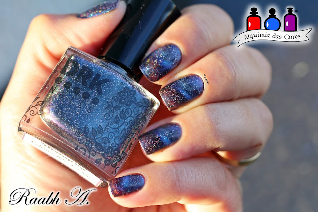 DRK Nails Shangrilá, Esmalte Magnético, Azul, Esmalte Holográfico, Multichrome, DRK Nails Coleção Rita Lee.nda