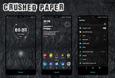 Huawei Themes: Crushed Paper Theme For Emui 5 / 8