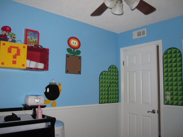 super mario bedroom decor set