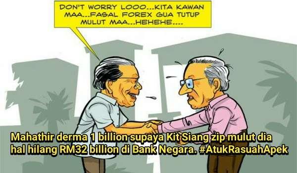 Mahathir Tunduk Pada Pemimpin Haram DAP