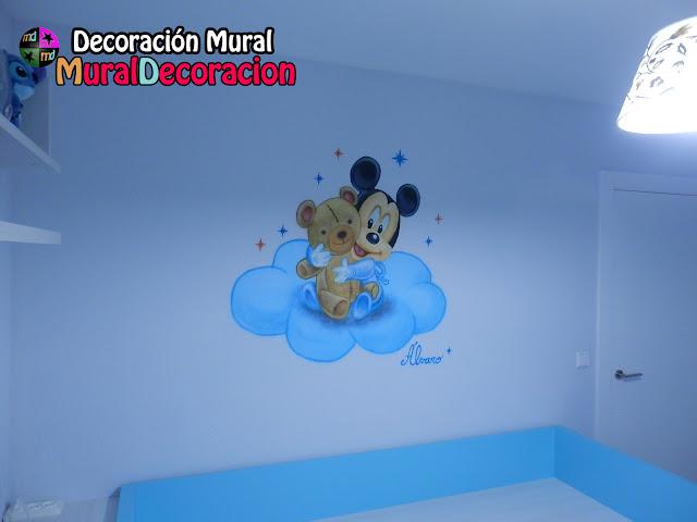 valladolid_mickey_mouse_baby_decoración_mural_infantil