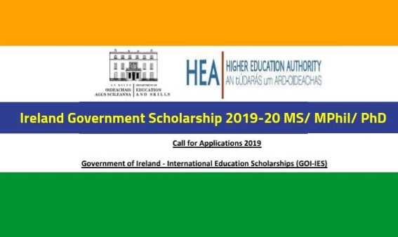 60 Government of Ireland (GOI) International Education Scholarships in Ireland, 2019/2020