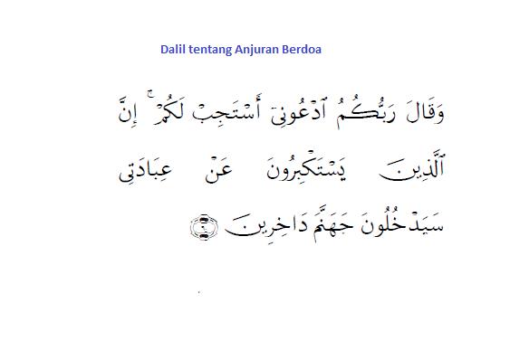 Dalil Al Qur'an tentang Anjuran Berdoa