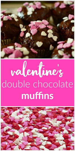 Double Chocolate Muffins for Valentine's Day