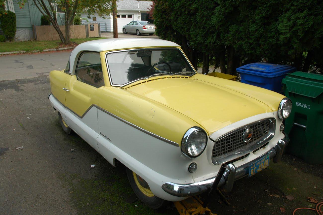 Nash Car: OLD PARKED CARS.: 1956 Nash Metropolitan