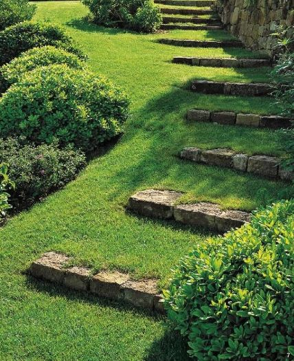 Interesting Ideas DIY Stairs In The Garden