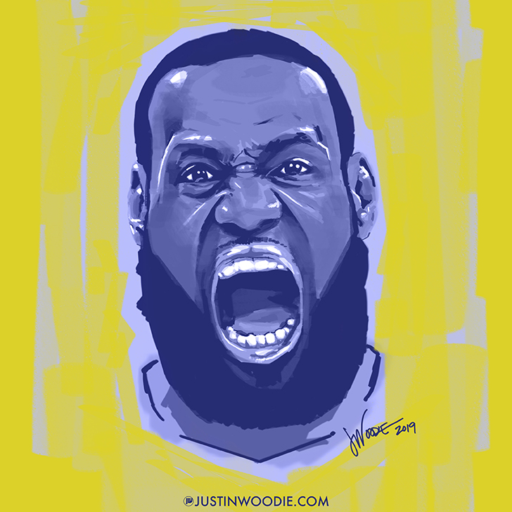 Lebron James Digital Painterly Illustration