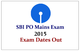 SBI PO Mains Exam Date Released