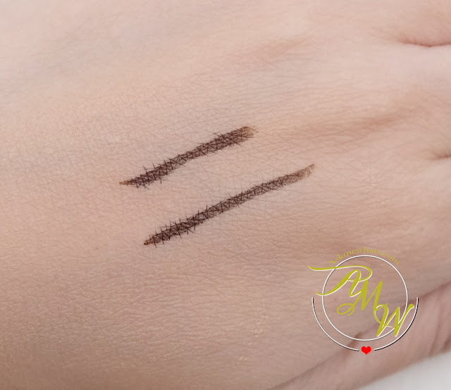 a swatch photo of BLK Long-Lasting Liquid Eyeliner Brown