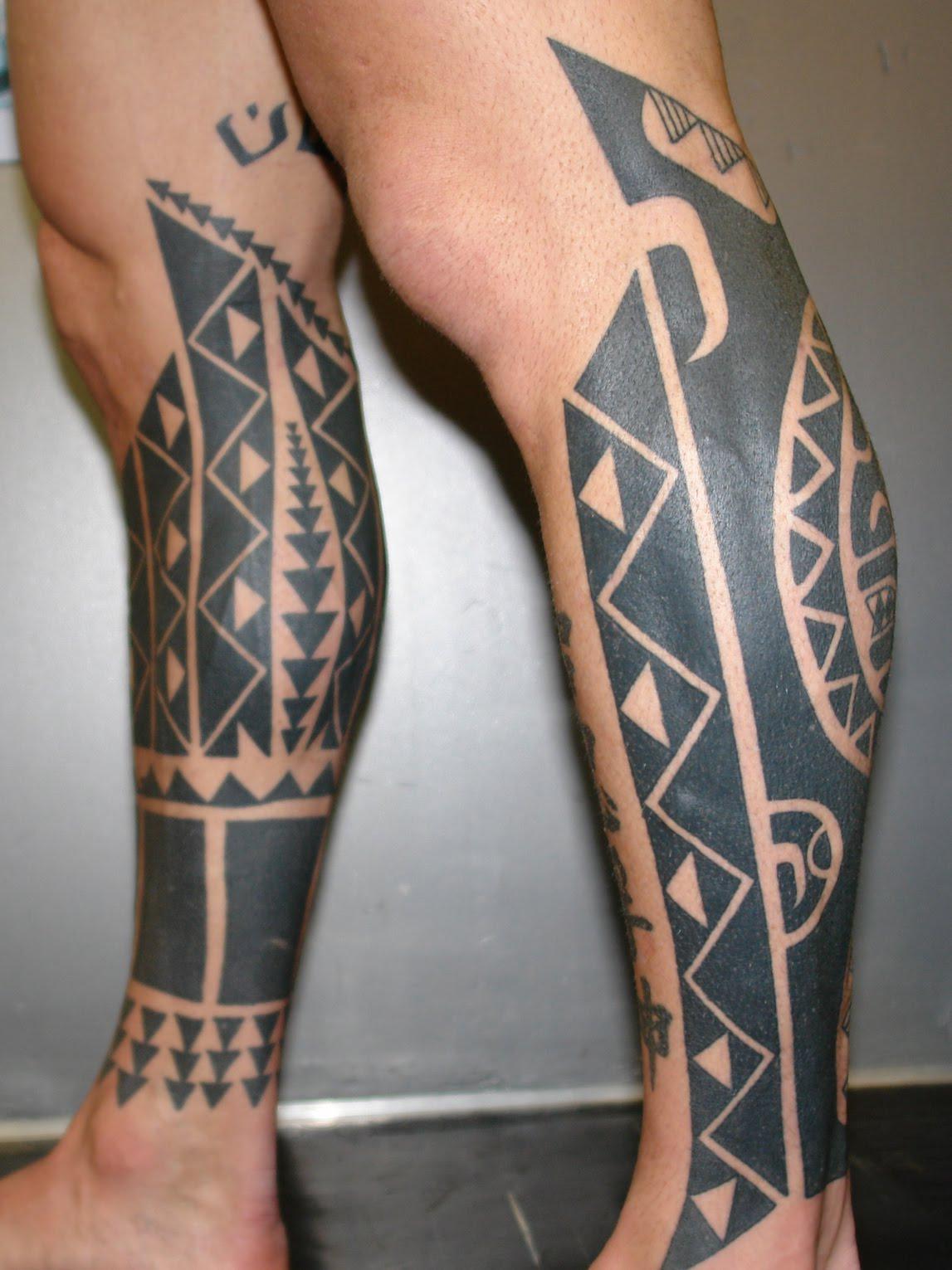 Tattoo Ideas Leg: Tattooz Designs: Tribal Leg Tattoos Designs