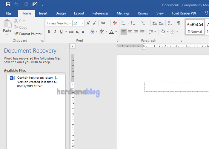 Document-Recovery-MS-Word