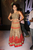 Jenny in brown transparent sleeveless anarkali dress at Shamanthakamani pre release function ~  Exclusive 012.JPG