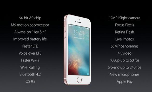 Presentato iPhone SE; si parte da 399$ 1