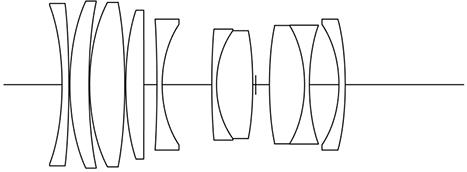 Оптическая схема объектива Voigtlander APO-Macro Lanthar 65mm f/2 Aspherical