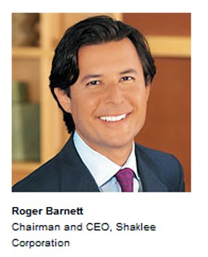 CEO Shaklee : Mr Roger Barnett