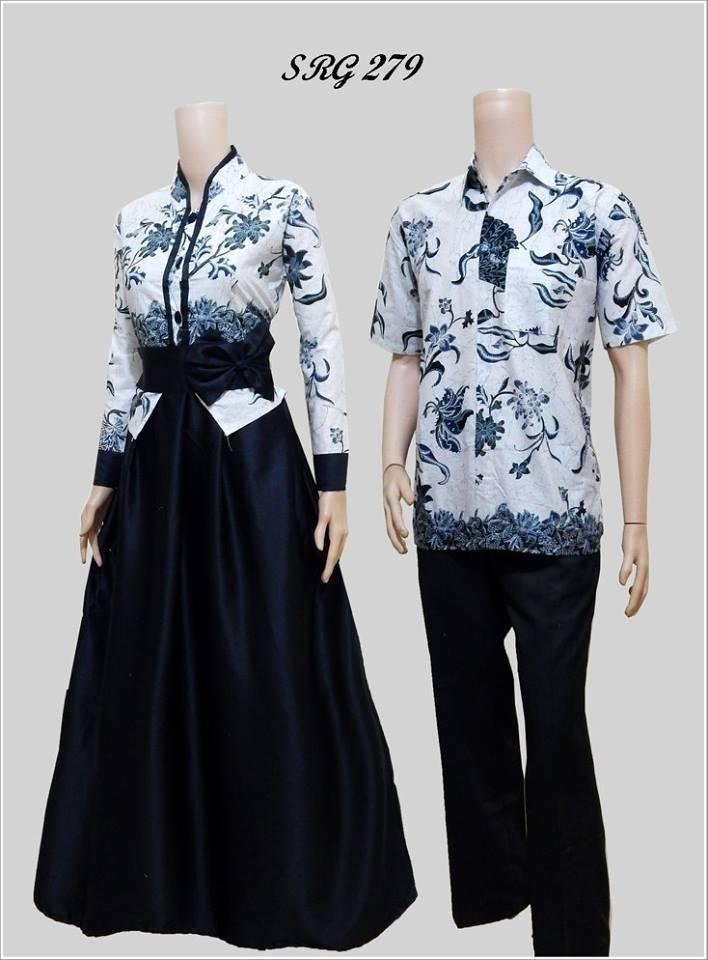 Model Baju Batik Gamis Srg 279