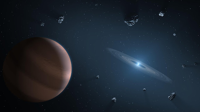 Exoplanet and debris disk orbiting a polluted white dwarf