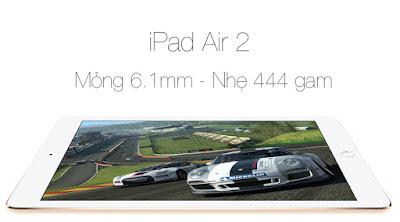 ipad Air 2 mới 99% sắm kiểu dáng sang trọng và cấu hình khủng