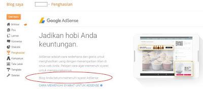 Cara Mendaftar Google Adsense Langsung Dari Blogspot