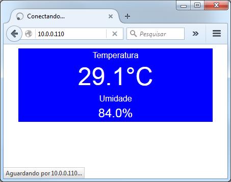 Browser Temperatura e Umidade NodeMCU DHT22