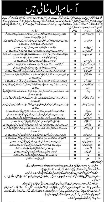 Rescue 1122 Jobs 2015 KPK Form Download 16 March 2015 - News