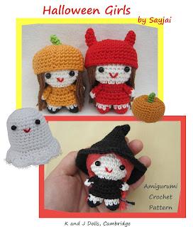 Witch, Devil, Pumpkin Girl crochet pattern