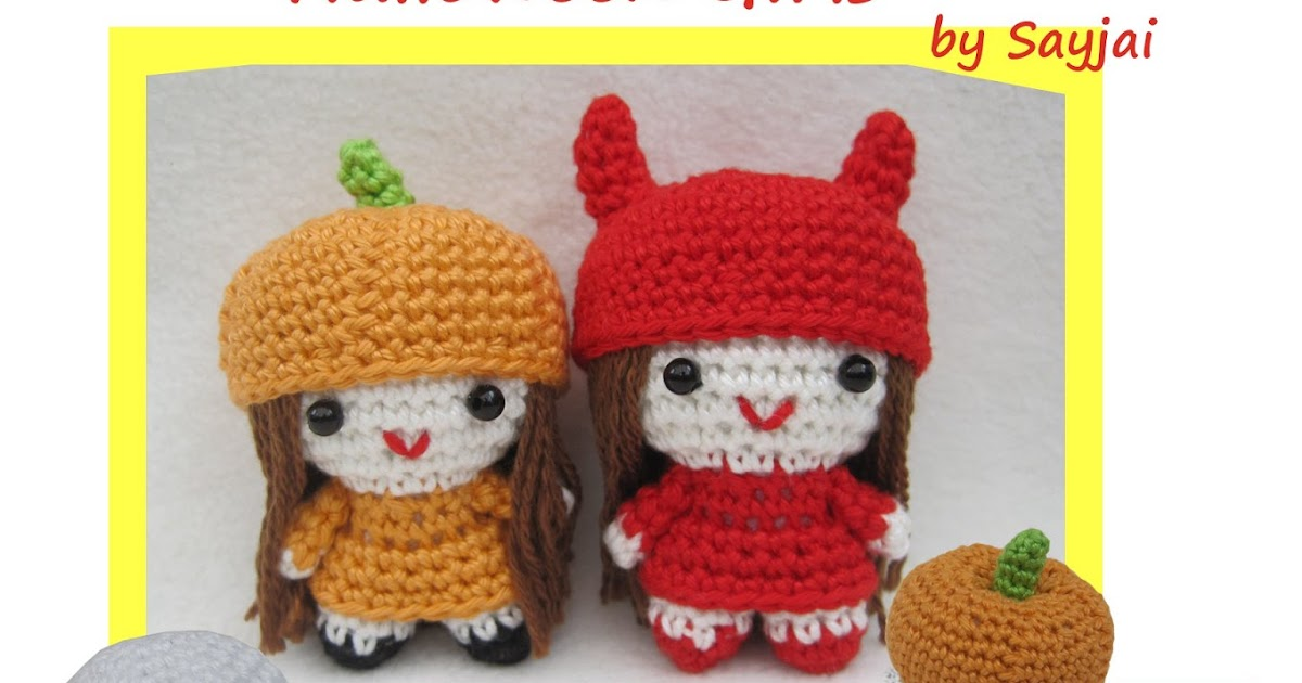 Halloween Amigurumi Crochet : Halloween Girls - Sayjai Amigurumi Crochet Patterns ~ K ...