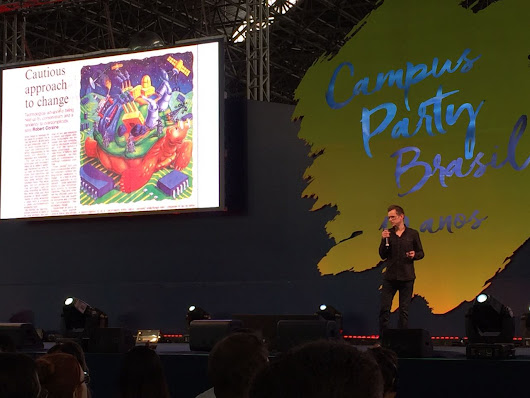 Back from speaking at Campus Party Brazil!
