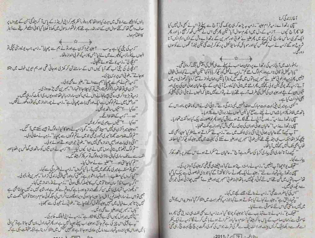 Free Urdu Digests: Tum kia jano dil ka hal by Ayesha Ilyas