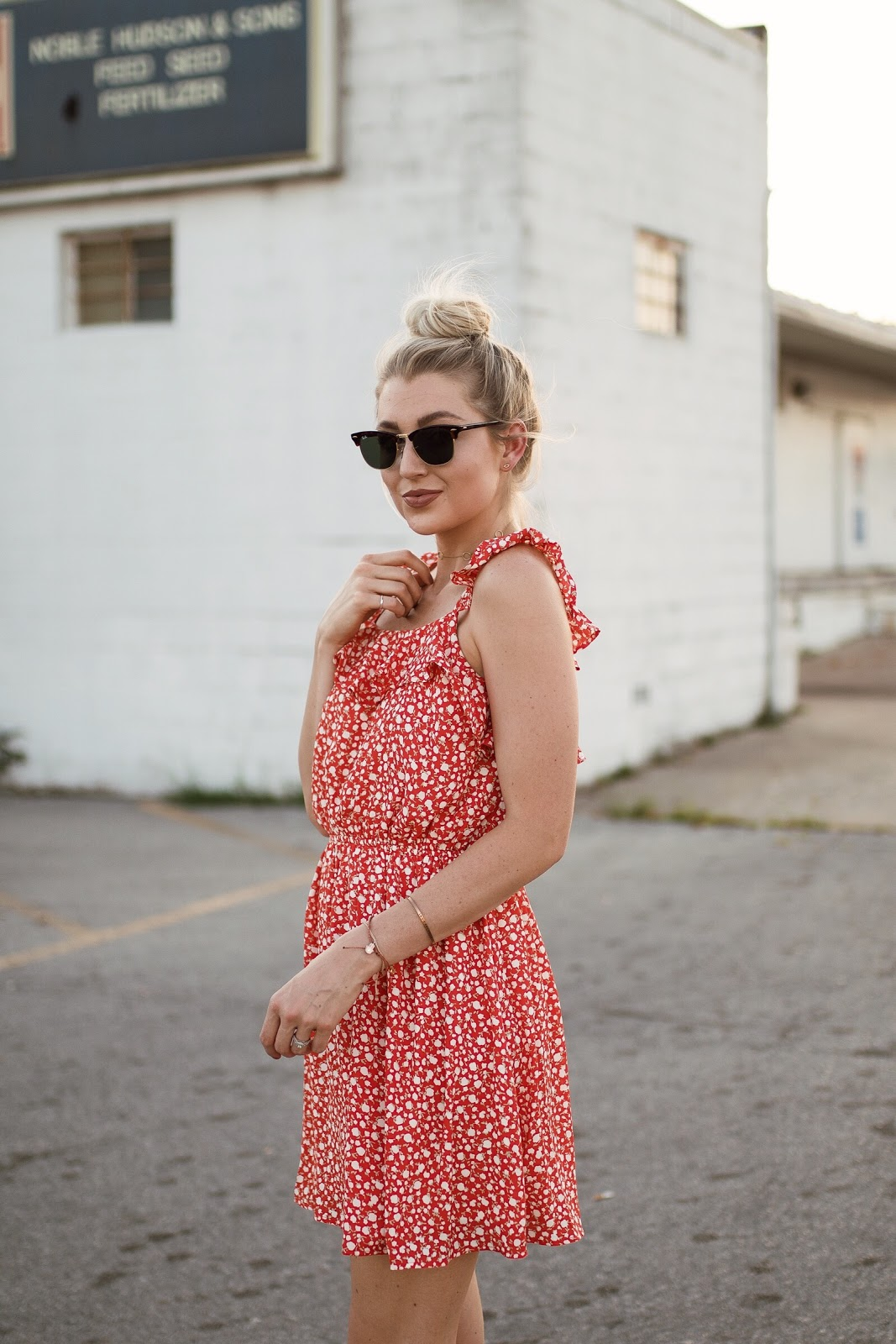 floral Moon River sundress