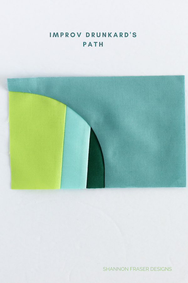 Improv Dnunkard's Path quilt block | Q4 2018 FAL | Shannon Fraser Designs