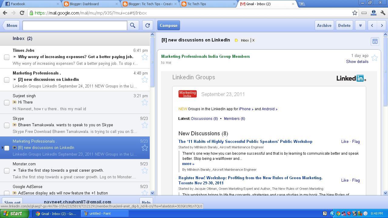Gmail Inbox: Tic Tech Tips: Offline Gmail