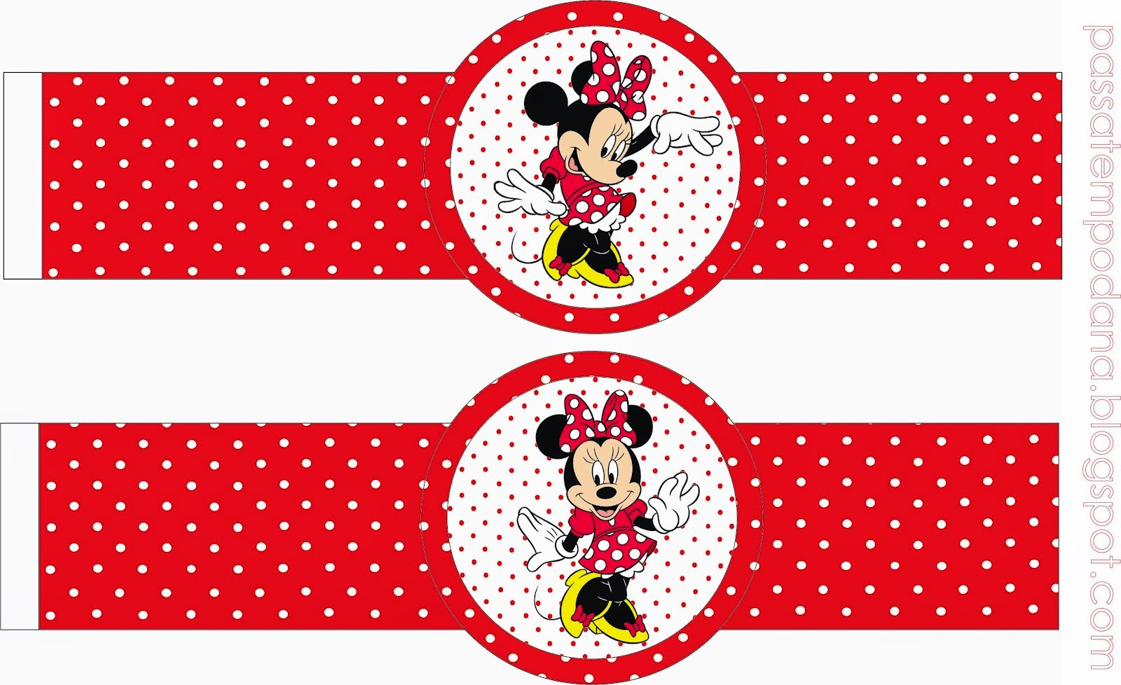 Minnie Red And White Polka Dots Free Party Printables
