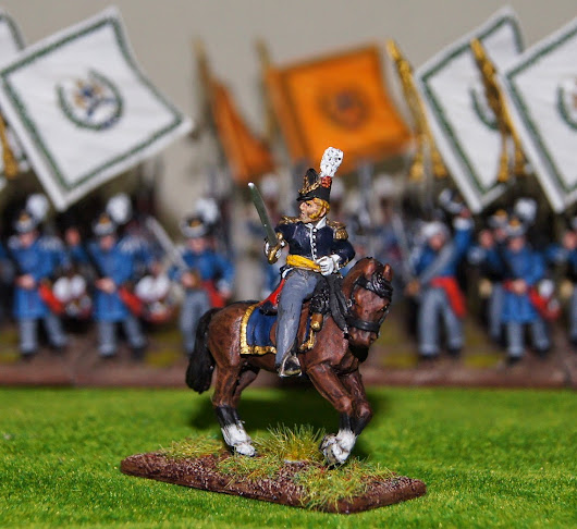 Belgian Line Infantry Officer / 28mm / Perry