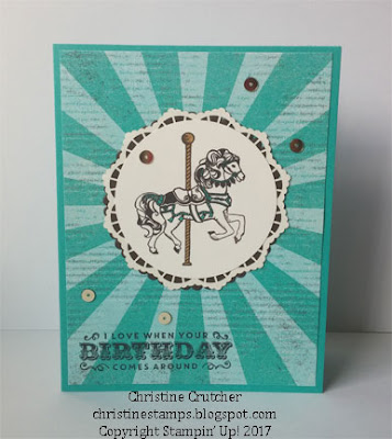 Stampin Up Carousel Birthday