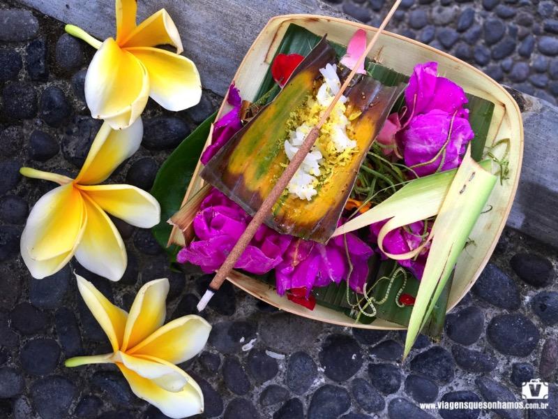 Oferendas em Bali
