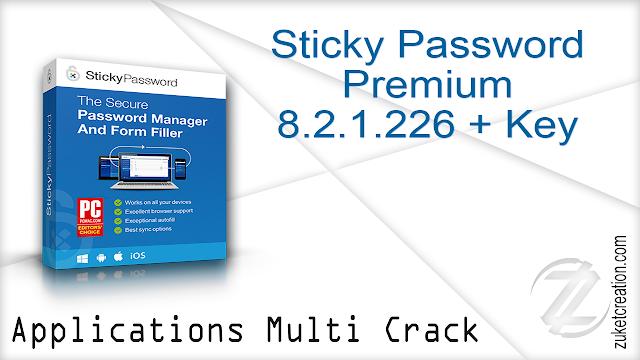 Sticky Password Premium 8.2.1.226 + Key