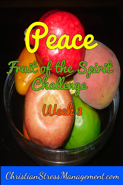 Fruit of the Spirit challenge Peace Week