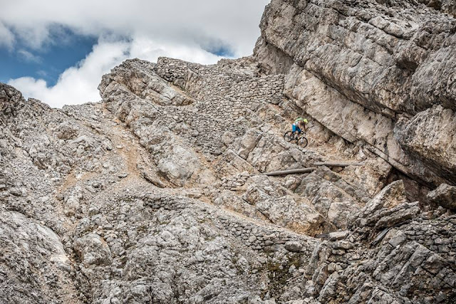 MTB Tour Vallon Bianco Mountainbike Dolomiten