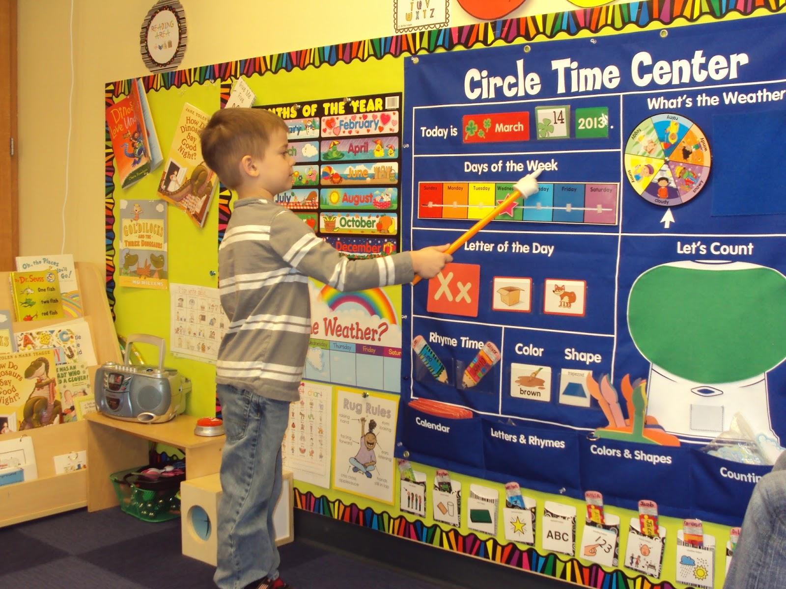 Preschool Wonders Whole Group Instruction Calendar Time