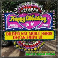 karangan bunga papab wedding di bekasi