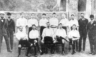 The Genoa team that won Italy's first national football championship in 1898