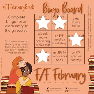F/F February Reads bingo card