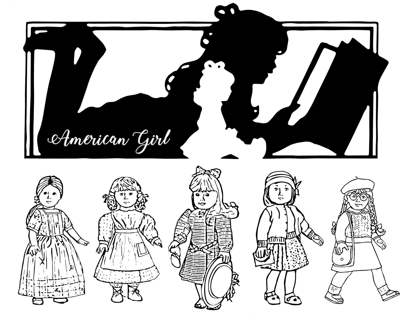j american girl coloring pages | My Cup Overflows: April 2018